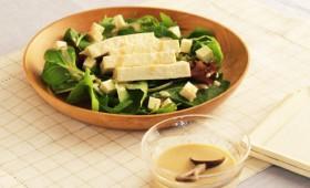 【レシピ】塩麹ごまドレッシングの豆腐サラダ