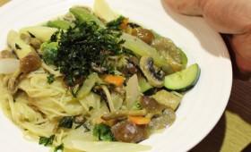 【レシピ】野菜だしと豆乳の具だくさんスープパスタ